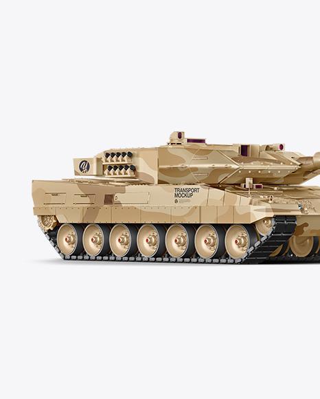 Tank Mockup - Half Side View