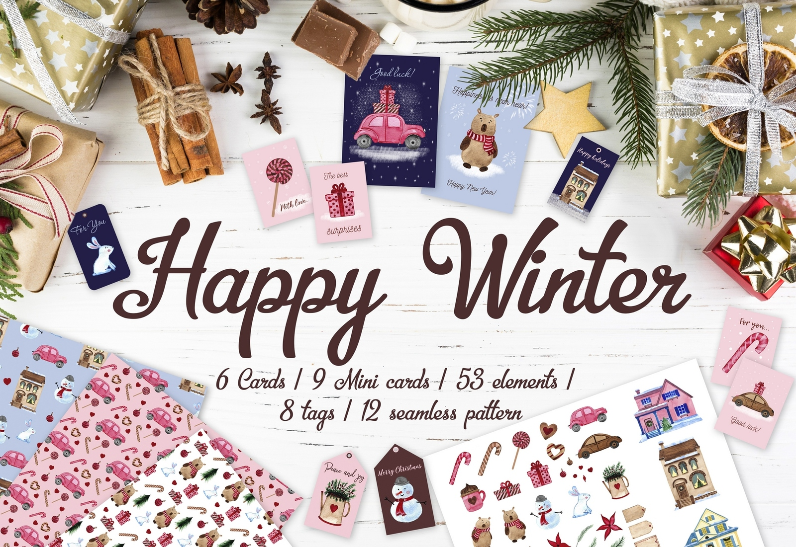 Happy Winter set