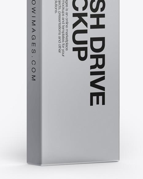 Aluminium Flash Drive Mockup
