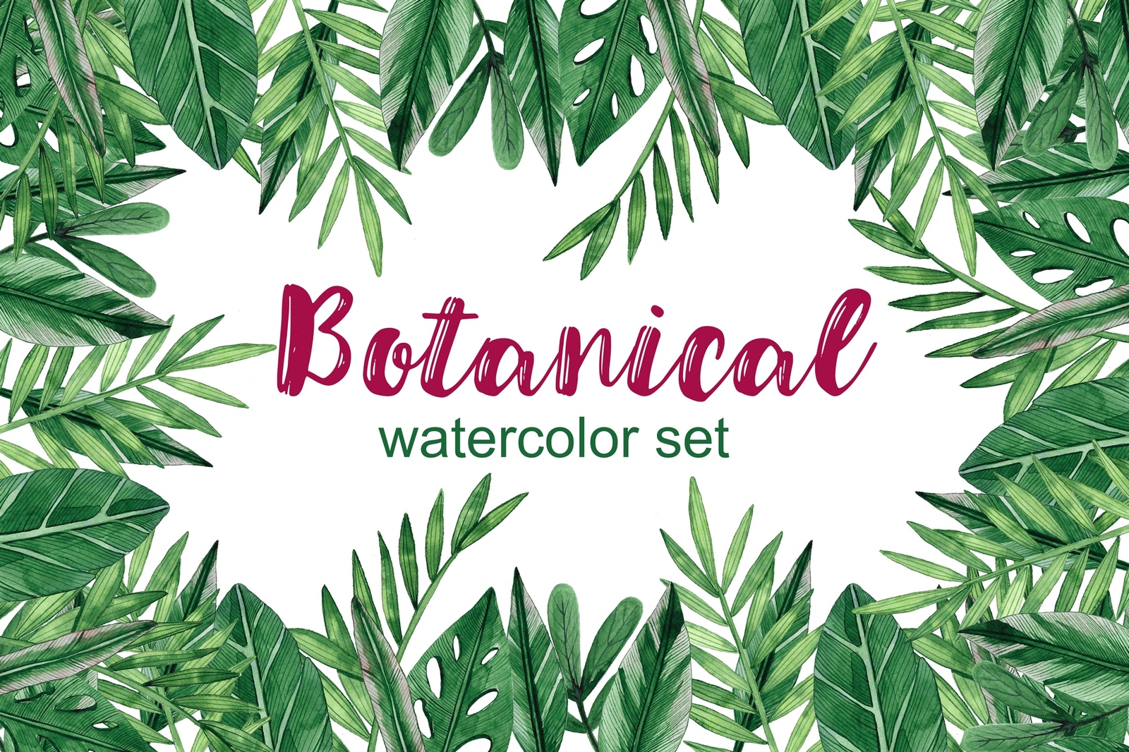 Botanical Watercolor Set