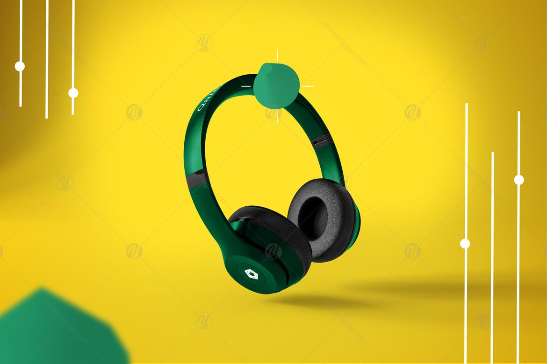 Abstract Headphones Mockup