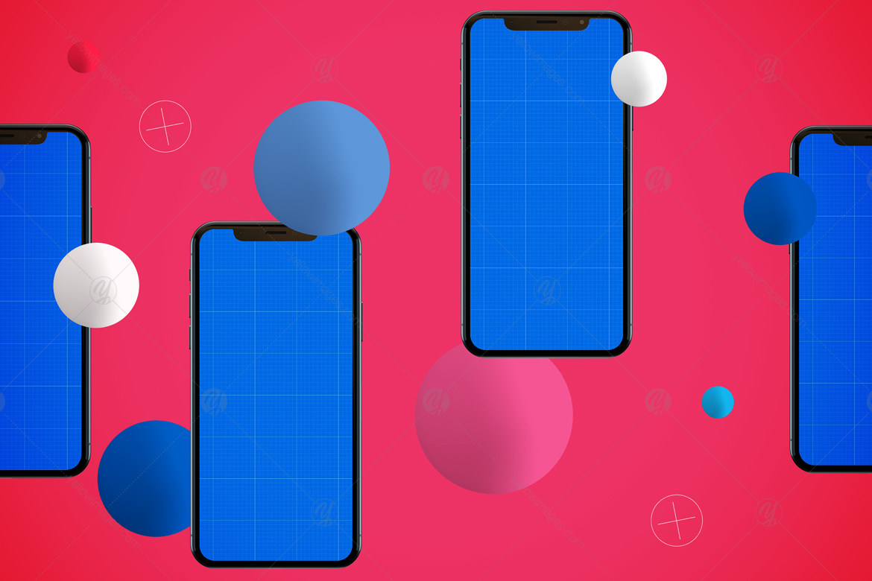 Abstract iPhone XS Mockup