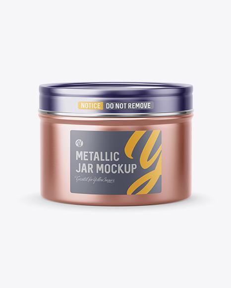 50g Metallic Jar Mockup