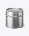 30g Metallic Jar With Clear Glass Window Mockup (high-angle view)
