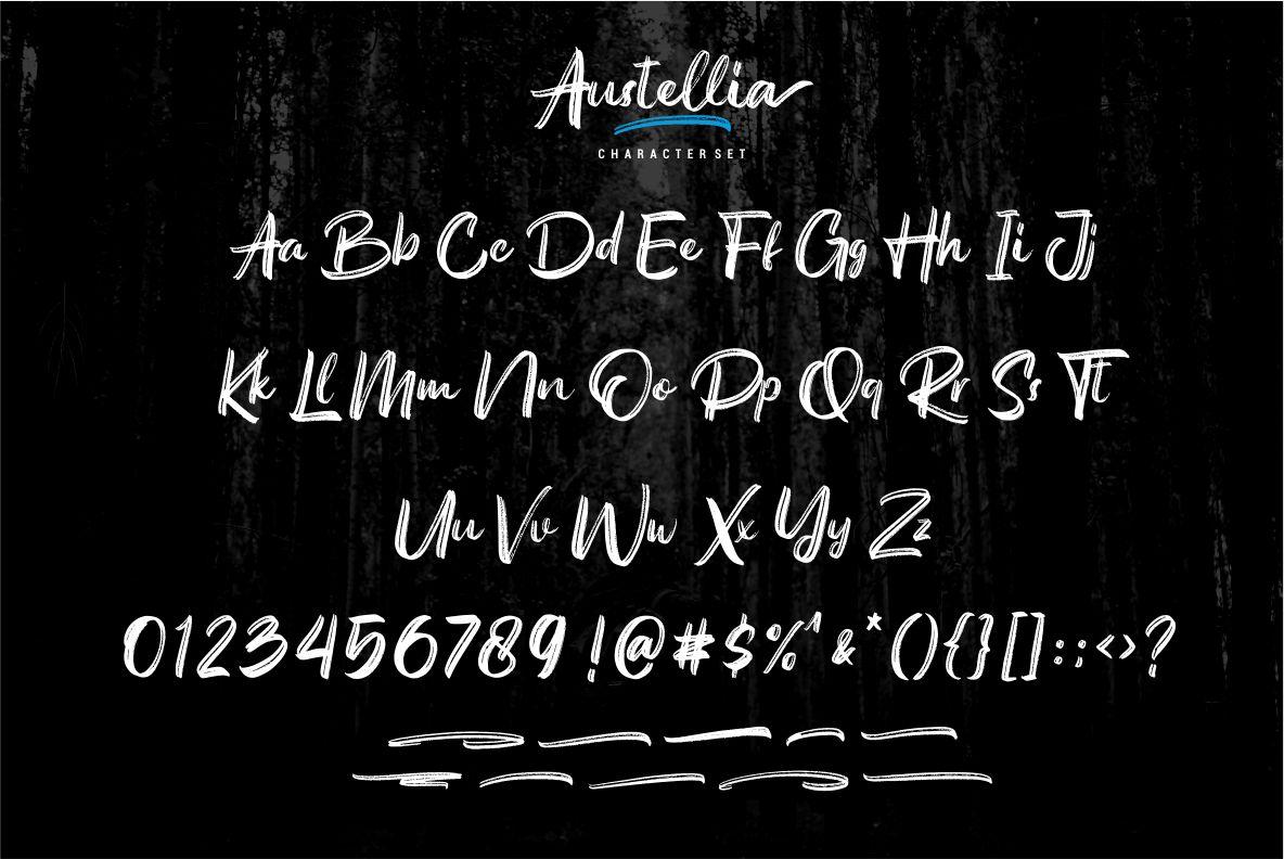Austellia - Handbrush Font