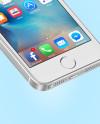 Isometric Apple iPhone SE Mockup
