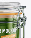 Glass Jam Jar With Clamp Lid Mockup