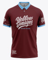 Men's Soccer Jersey Mockup - Front View Of Polo Shirt