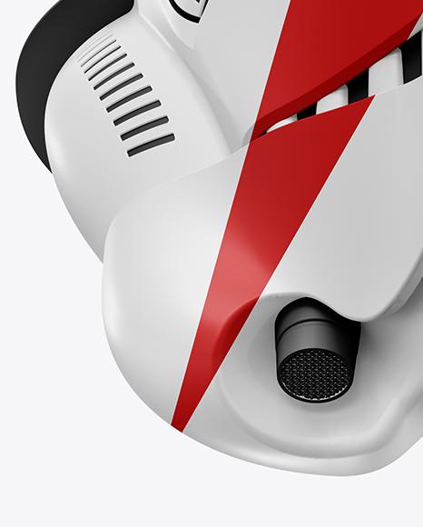 Matte Stormtrooper Helmet Mockup