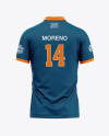 Men's Soccer Jersey Mockup - Back View Of Polo Shirt