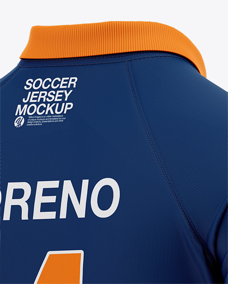 Men's Soccer Jersey Mockup - Back Half Side View Of Polo Shirt