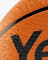 Basketball Ball Mockup - Front View