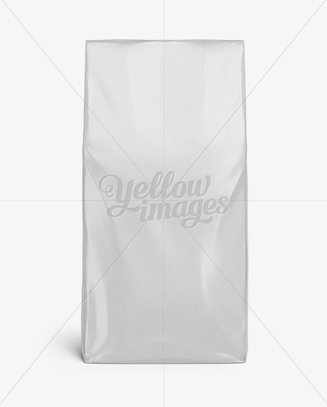 Download Glossy Paper Foodsnack Bag Mockup Front View PSD - Free PSD Mockup Templates