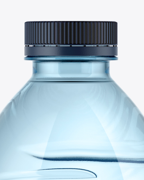 750ml Blue Water Bottle Mockup