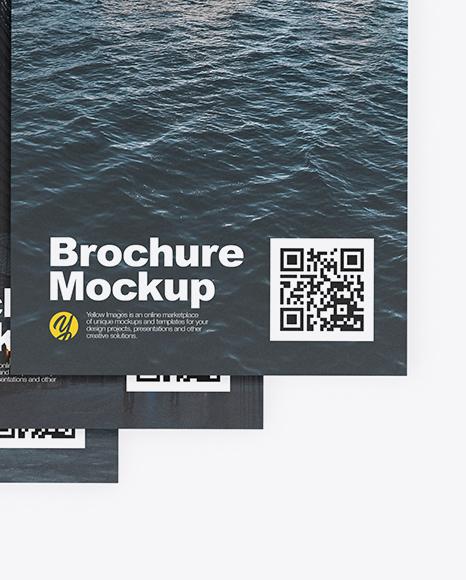 Four Brochures Mockup