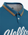 Men's Soccer Jersey Mockup - Front Half Side View Of Polo Shirt