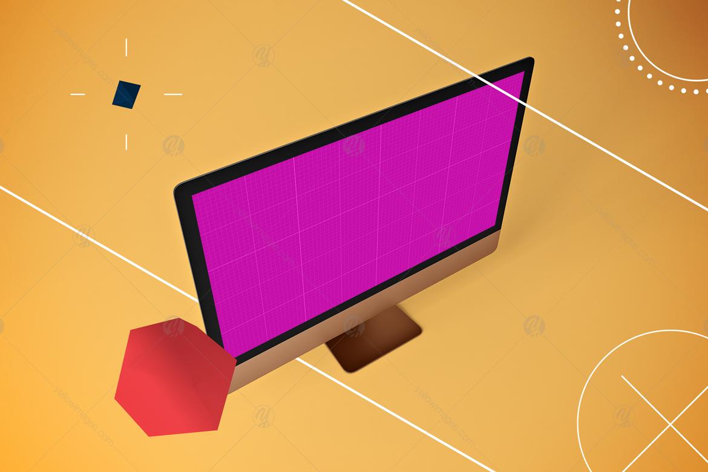 Abstract iMac Pro MockUp