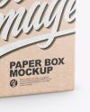 Kraft Paper Box w/ Hang Tab Mockup