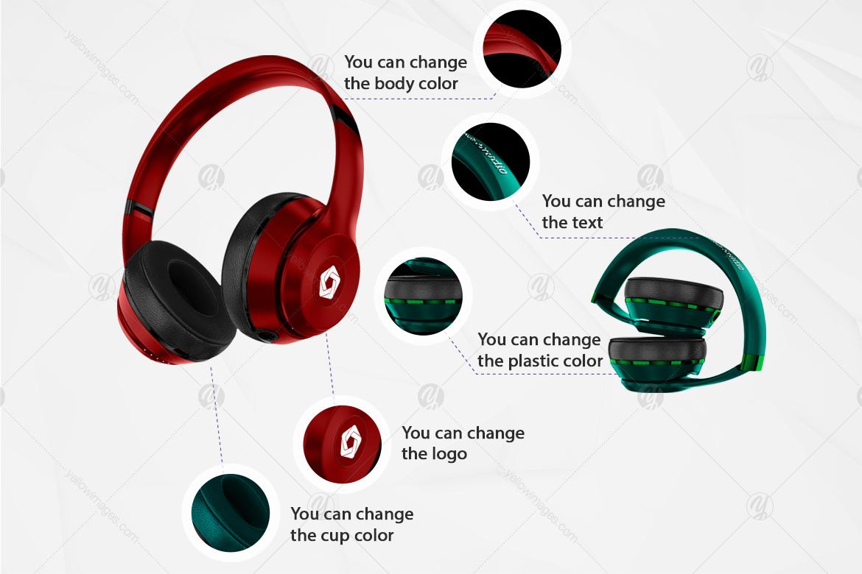 Headphones Mockup Kit