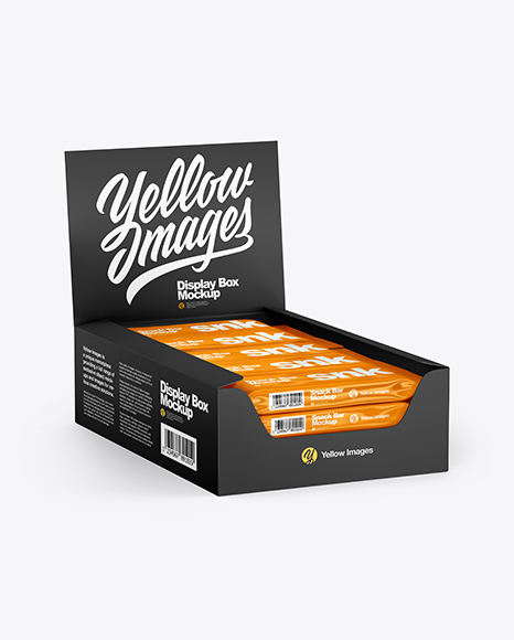 Download Matte Display Box with Snacks Mockup in Box Mockups on ...