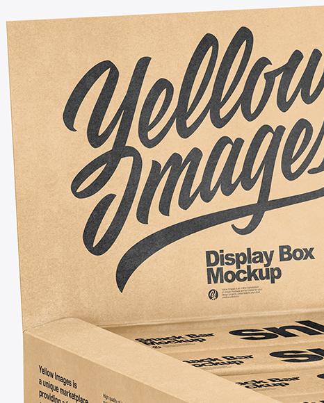 Kraft Display Box with Snacks Mockup