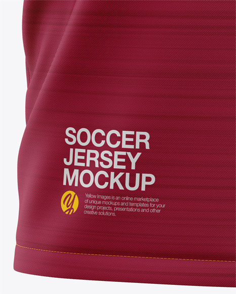 Men's Soccer V-Neck Jersey Mockup - Front View