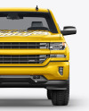 Full-Size Pickup Truck Mockup - Front View