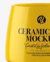 Glossy Ceramic Mug Mockup