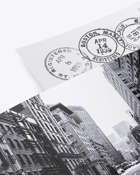Paper Postcards Mockup