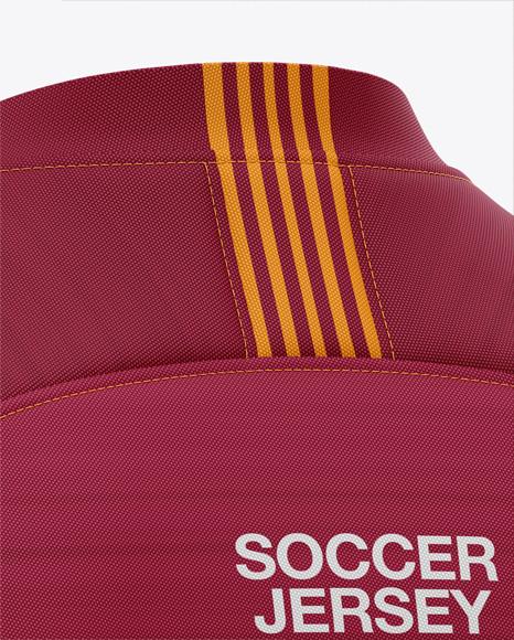 Men's Soccer V-Neck Jersey Mockup - Back Half-Side View
