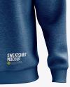 Men's Heather Heavyweight Sweatshirt mockup (Front View)