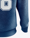 Men's Heather Heavyweight Sweatshirt mockup (Back View)