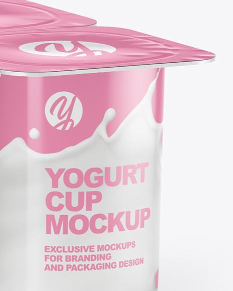 Download Yogurt Packaging Mockup Free PSD - Free PSD Mockup Templates