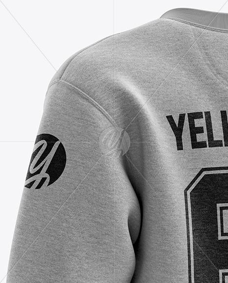 Download Mens Midweight Sweatshirt Mockup Back Half Side View Yellowimages