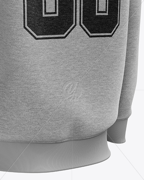 Men's Heather Heavyweight Sweatshirt mockup (Back Half Side View)