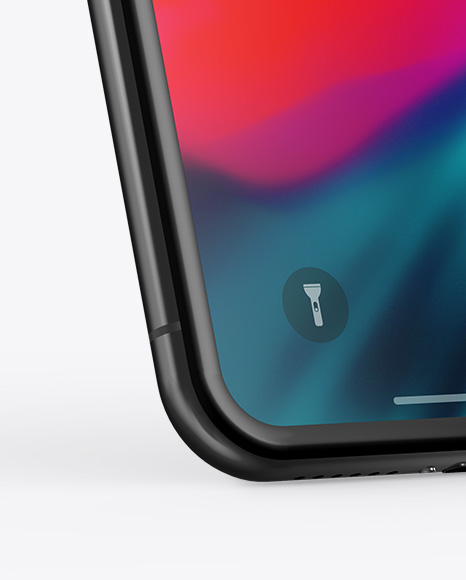 Apple iPhone X Mockup - Half Side View