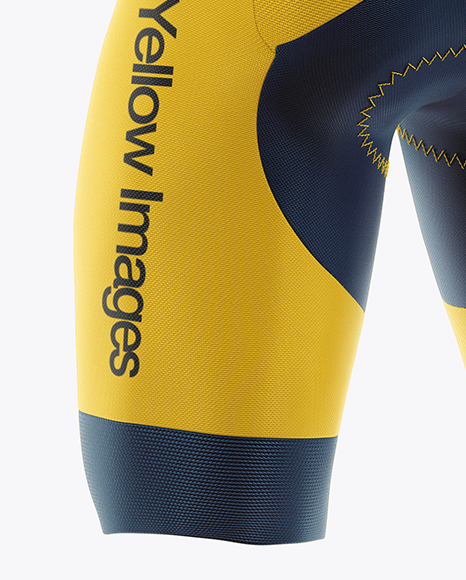 Cycling Speed Suit Mockup - Back Half Side View