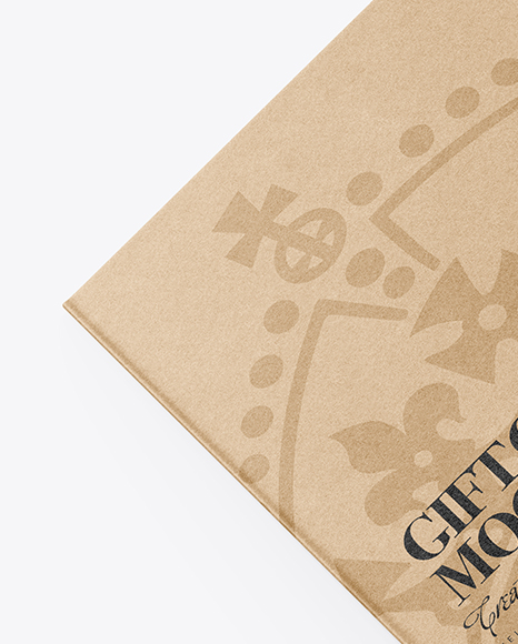 Kraft Gift Card Mockup