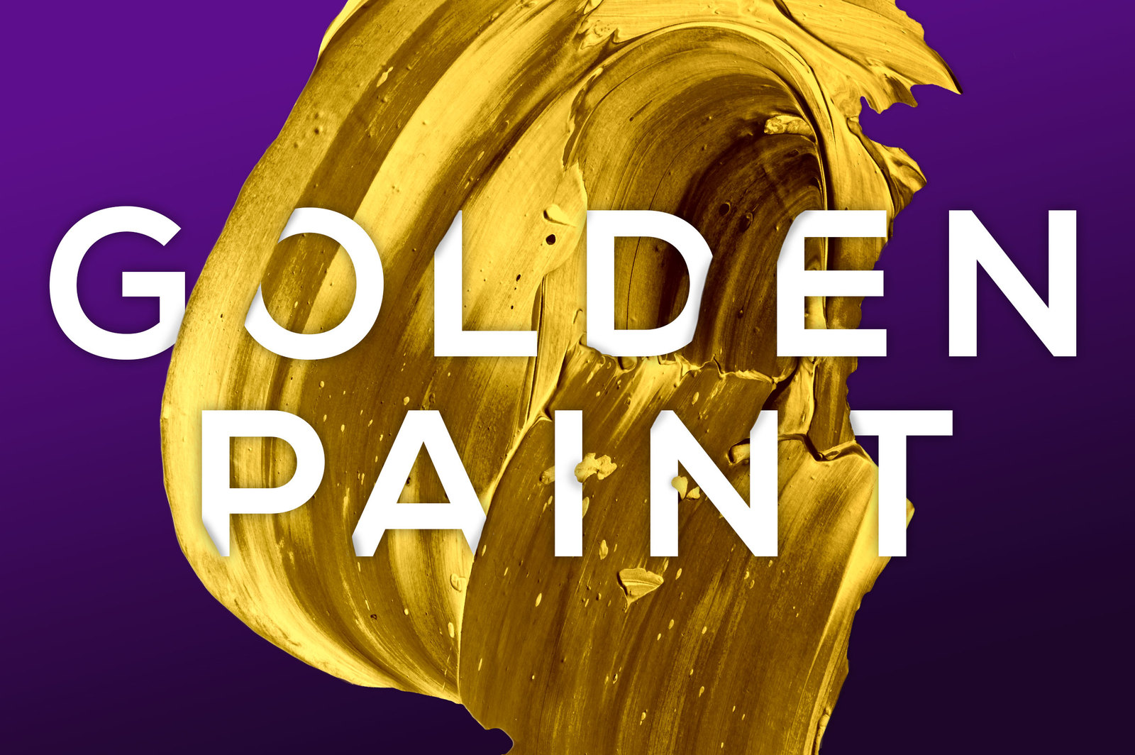 Golden Paint: Isolated Paint Textures