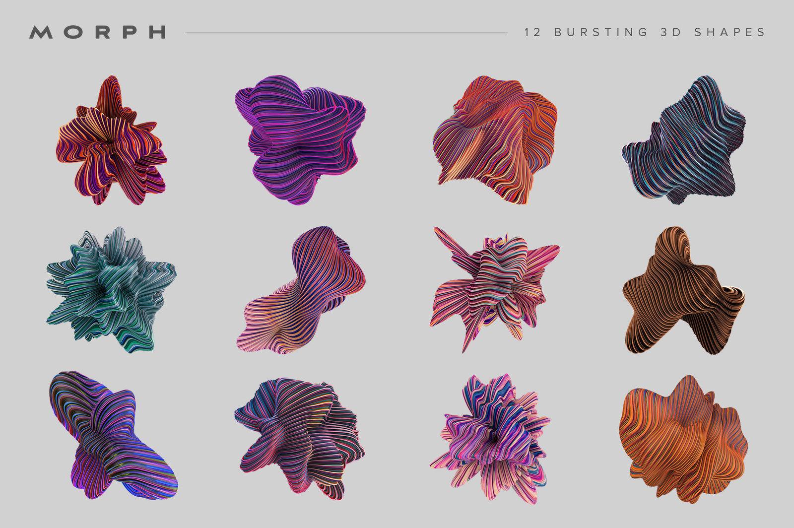 Morph: Bursting 3D Shapes
