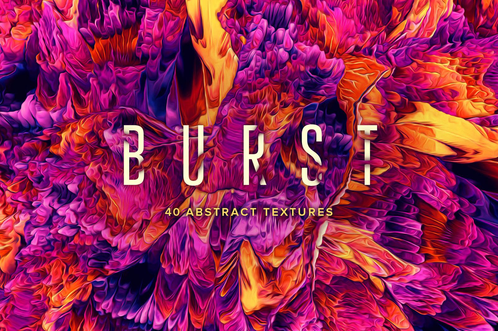 Burst: 40 Abstract Paint Textures