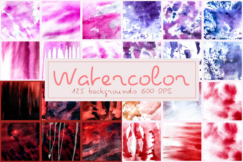 Watercolor textures backgrounds digital paper watercolour