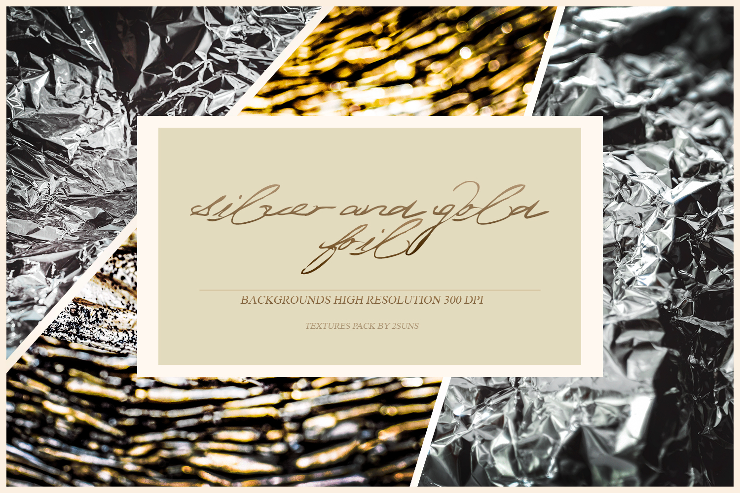 Foil textures overlays silver paper grunge textures