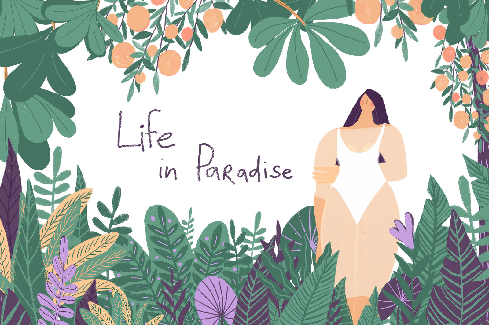 Girls in Paradise graphic set