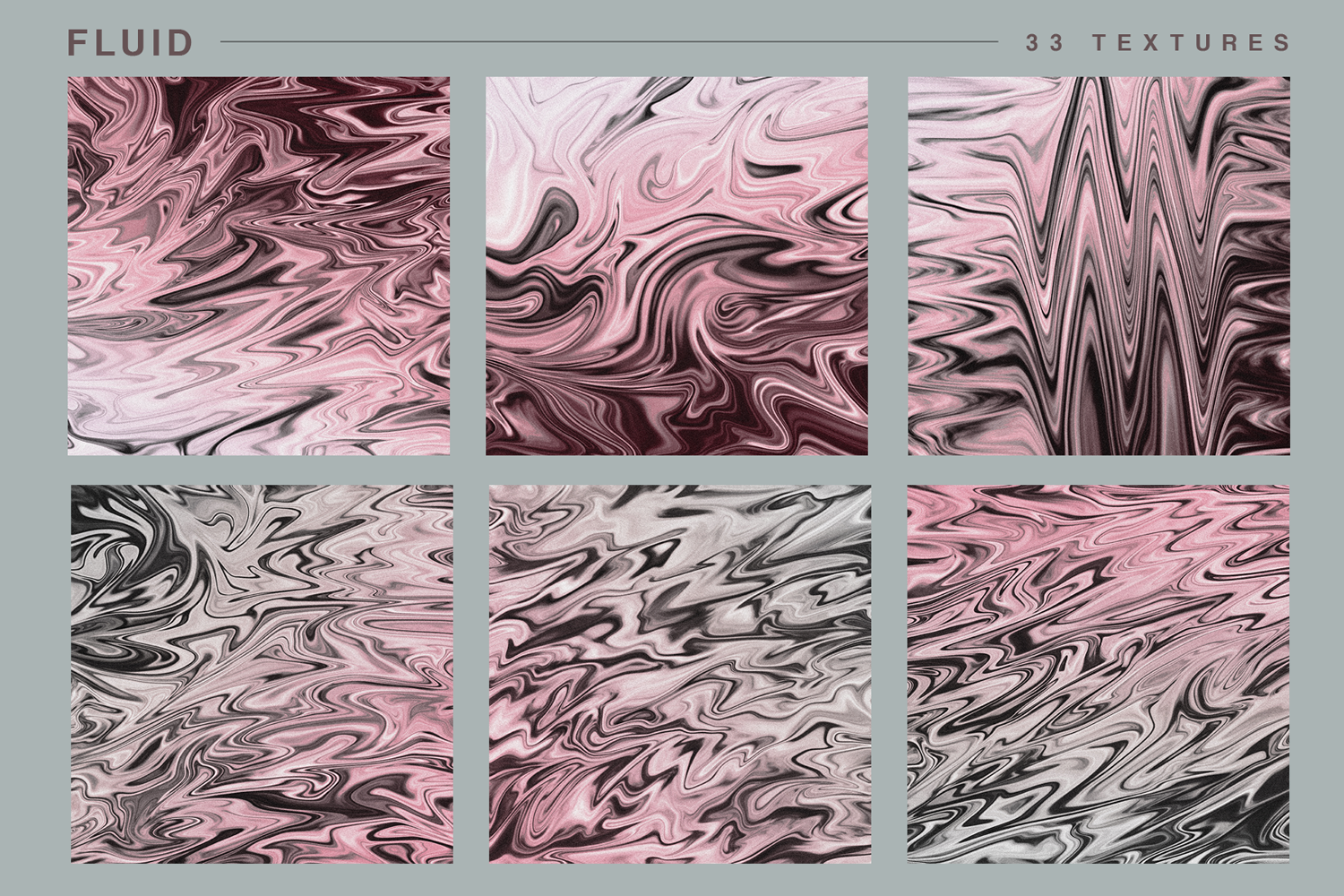 Fluid textures marble metallic rose