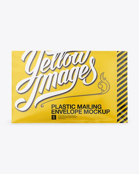 Plastic Mailing Envelope Mockup (Front & Back Views)