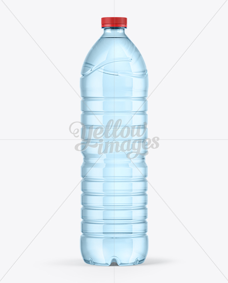 1,5L Blue Water Bottle Mockup