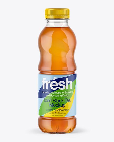 0,5L Iced Tea Bottle Mockup