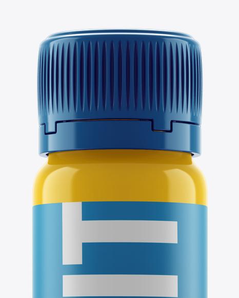 Gloss Plastic Sport Nutrition Bottle Mockup - Eye-Level Shot