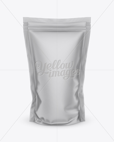 Matte Stand Up Pouch With Zipper Mockup Mockup - Front View
